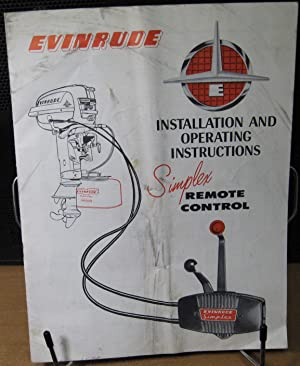 Evinrude Installation and Operating Instructions w/ Simplex