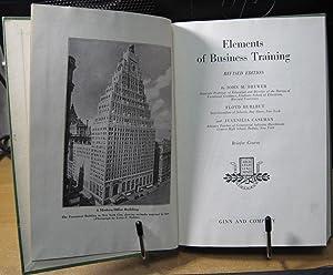Elements of Business Training: Brewer, John M., Hurlbut, Floyd and Caseman, Juvenilia