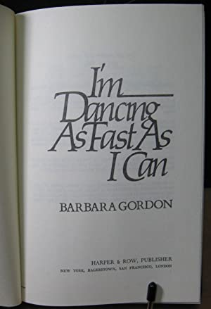 I'm Dancing as Fast as I Can: Gordon, Barbara
