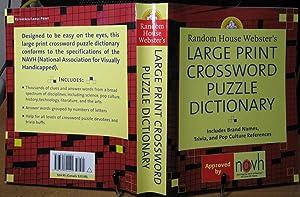 Random House Webster's Large Print Crossword Puzzle: Elliott, Stephen P.,