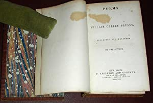 Poems by . Collected and Arranged by the Author: BRYANT, William Cullen