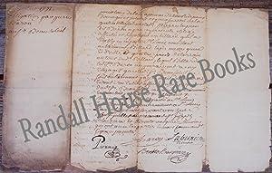 Autograph Document, signed