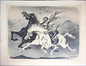 Two men on horseback: GROPPER, W[illia]m. [1897-1997]