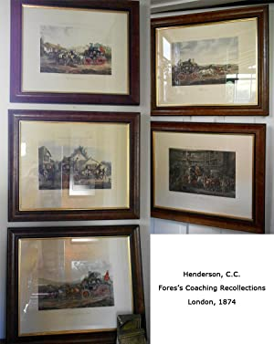 Set of five Coaching Scenes: Fores's Coaching Recollections: HENDERSON, C C