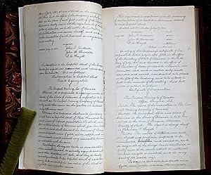 Manuscript Minutes of the Tonopah Mining Company of Nevada: TONOPAH MINING COMPANY],