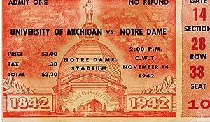 University of Michigan vs Notre Dame Ticket: FOOTBALL],