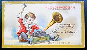 The Edison Phonograph. The Acme of Realism: ADVERTISEMENT],