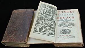 Antique Book-BOCCACCIO-ILLUSTRATED-Hooghe-Bocaccio-1702 (vol. 1), 1698 (vol. 2)