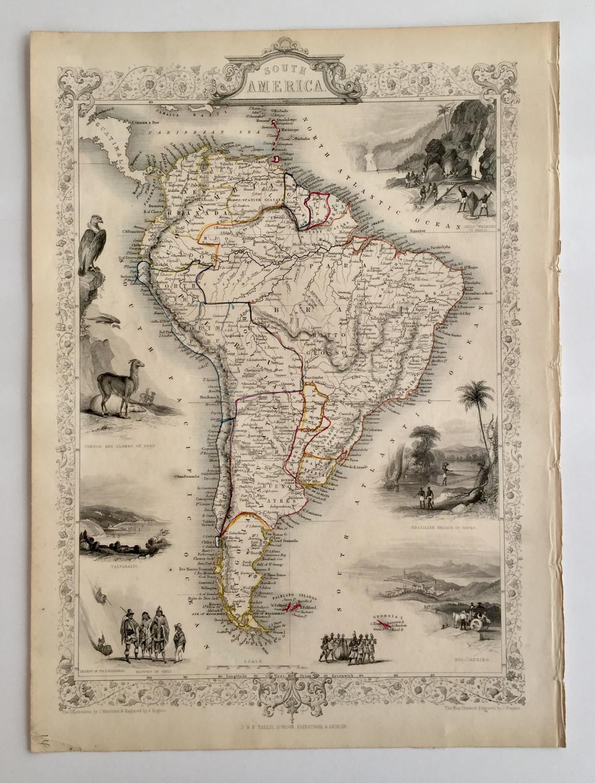Antique Map - South America TALLIS, John [Fine] (bi_30254490669) photo