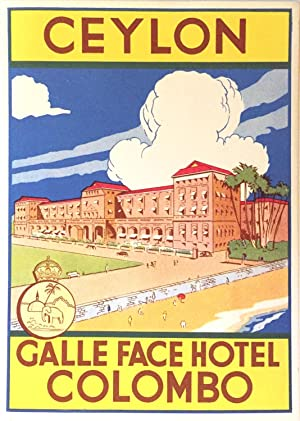 Original Vintage Luggage Label - Galle Face Hotel, Colombo, Ceylon