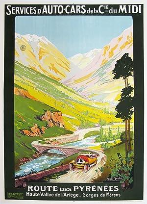 Original Vintage Travel Poster - Route des: Roger Soubie