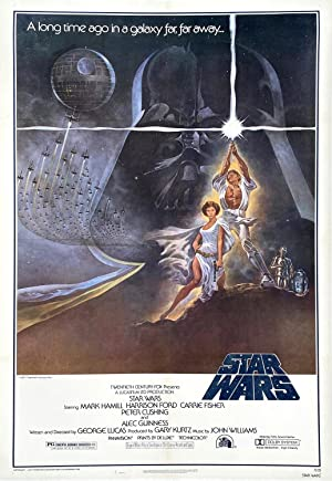 Original Vintage Movie Poster - Star Wars, US original release one sheet, Style A