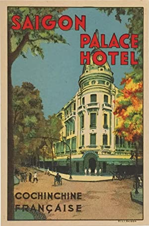 Vintage Luggage Label - Saigon Palace Hotel