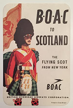 Original Vintage Luggage Label - BOAC to Scotland