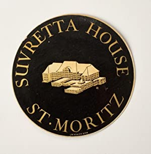 Original Vintage Luggage Label - Suvretta House, St. Moritz