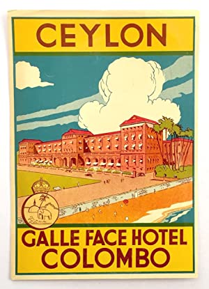 Original Vintage Luggage Label - Galle Face Hotel, Ceylon