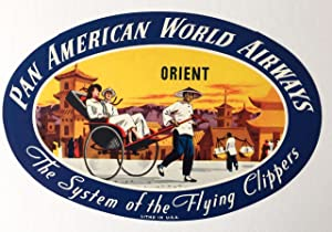 Original Vintage Luggage Label - Pan American: The Orient