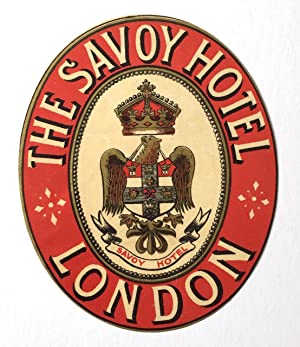 Original Vintage Luggage Label - The Savoy Hotel, London