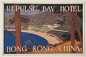 Original Vintage Luggage Label for The Repulse Bay Hotel, Hong Kong