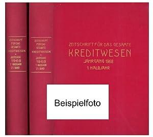 Zeitschrift für das gesamte Kreditwesen (ZKredW). 21. Jahrgang 1968., Kompletter Jahrgang in 2...