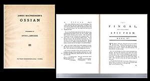 James Macpherson s OSSIAN. [Bd.I-III, in drei Bänden]., Faksimile-Neudruck der Erstausgabe von...