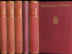 Grillparzers Werke in 9 Teilen., [Komplette Ausgabe: 9 Teile in 5 Bänden]. Hrsg. u. m. einem ...