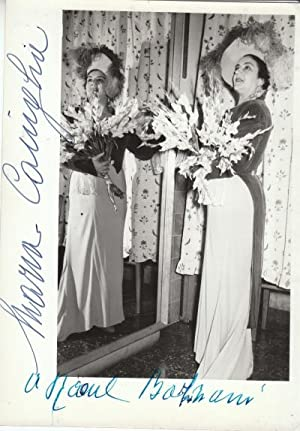 Signed and inscribed photo of Maria Caniglia.: Maria Caniglia'