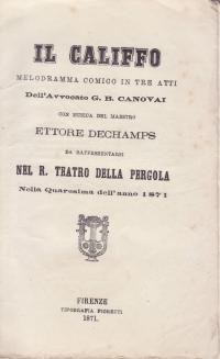 Il Califfo': De Champs, Ettore'