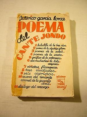 POEMA DEL CANTE JONDO.: GARCÍA LORCA, FEDERICO