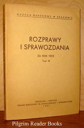 Rozprawy i Sprawozdania, za rok 1953, Tom: Andrzej Kopff, Zdzislaw