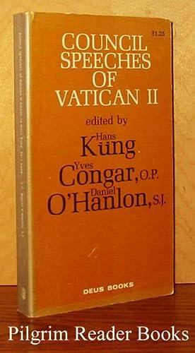 Council Speeches of Vatican II: Kung, Hans; Yves