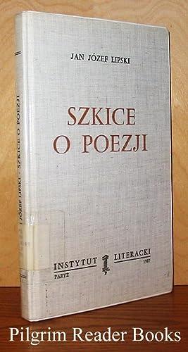 Szkice o Poezji: Lipski, Jan Jozef