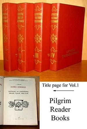 Latviesu Tautasdziesmas (Tautas Dziesmas); Darba Dziesmas. Four Volumes. 'Dziesmas un ...