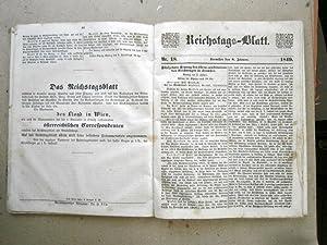 Reichstags-Blatt. 1848. Kremsier, Nr. 1, November 1848 - Nr. 58, März 1849. 230Seiten, 4°.