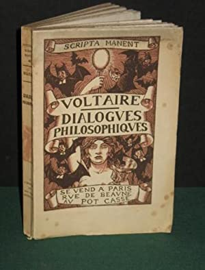 DIALOGUES PHILOSOPHIQUES. Illustrations par Henry CHAPRONT.: VOLTAIRE.