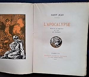 L'APOCALYPSE. Illustre de 46 compositions en 2 tons par COURBOULEIX.: SAINT JEAN