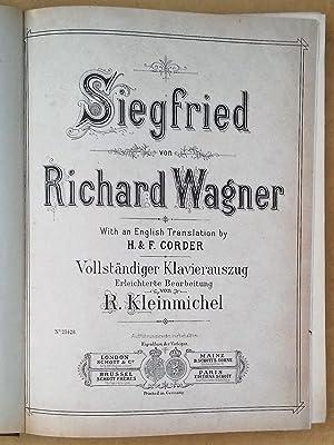 SIEGFRIED. With an English Translation by H. & F. Corder. Vollständiger Klavierauszug. ...