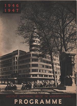 L'Institut National Belge de Radiodiffusion présente son PROGRAMME DE LA SAISON 1946-1947 (...
