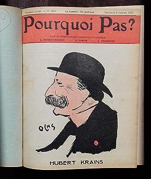 """ALBUM """"POURQUOI PAS ?"""" 1922.: REVUE) - DUMONT-WILDEN - GARNIR - SOUGUENET."""