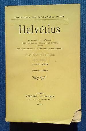 De l'esprit. De l'homme. Notes, maximes et: HELVETIUS.