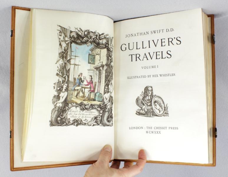 GULLIVER'S TRAVELS: (VELLUM PRINTING). (CRESSET PRESS). WHISTLER, REX, Illustrator. SWIFT, ...