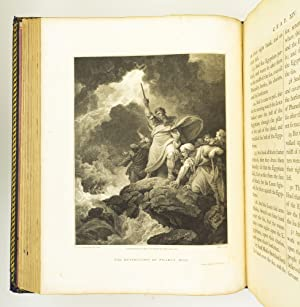 THE HOLY BIBLE. THE OLD TESTAMENT EMBELLISHED WITH ENGRAVINGS FROM PICTURES AND DESIGNS BY THE MO...