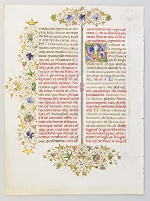 TEXT FROM THE SANCTORALE: AN ILLUMINATED MANUSCRIPT