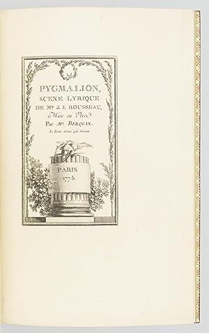 PYGMALION: SCENE LYRIQUE DE MR. J. J.: MERCIER). (ENGRAVED BOOKS).