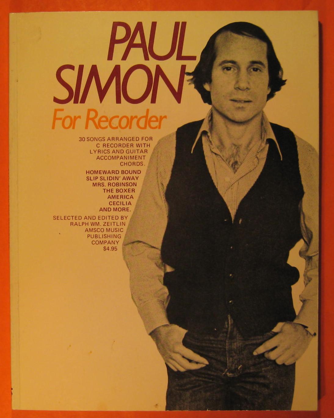 Paul Simon For Recorder By Simon Paul Amsco Music Publishing Co