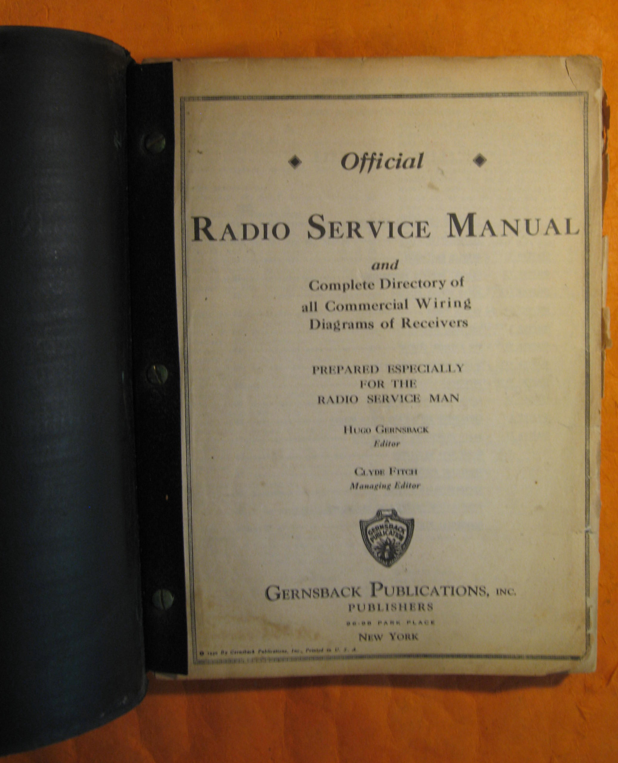 Official Radio Service Manual And Complete Directory Of All Commercial Wiring Diagrams Of