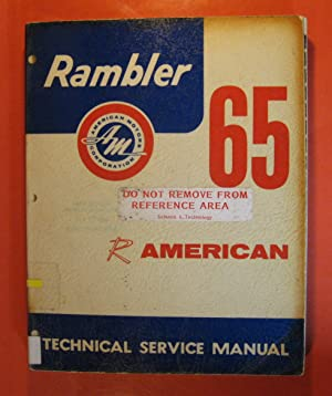1965 Rambler American Technical Service Manual: No Author
