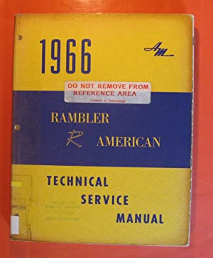 1966 Rambler American Technical Service Manual: No Author