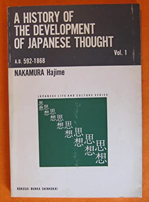 A History of the Development of Japanese Thought from A.D. 592 to 1868 Volume 1