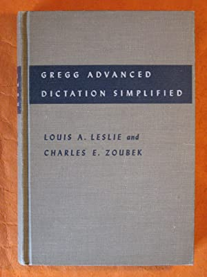 Gregg Advanced Dictation Simplified